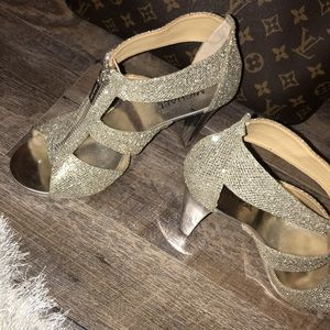 Michael Kors bling heels ONLY WORN ONCE!!